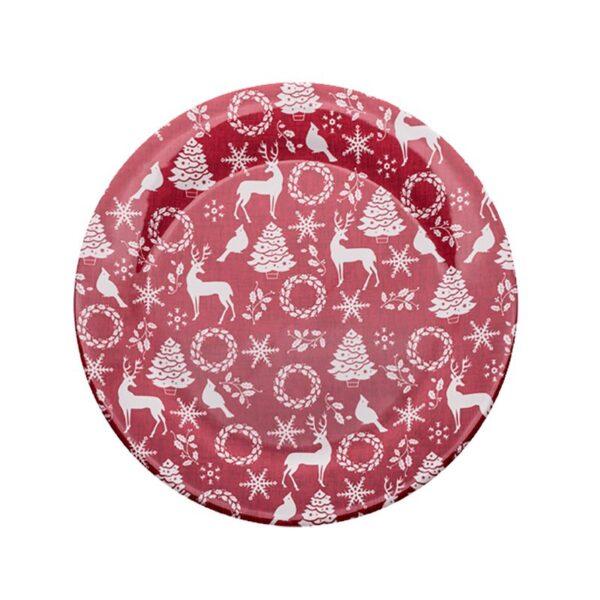 Sottopiatto / Piatto Panettone Rosso Natale