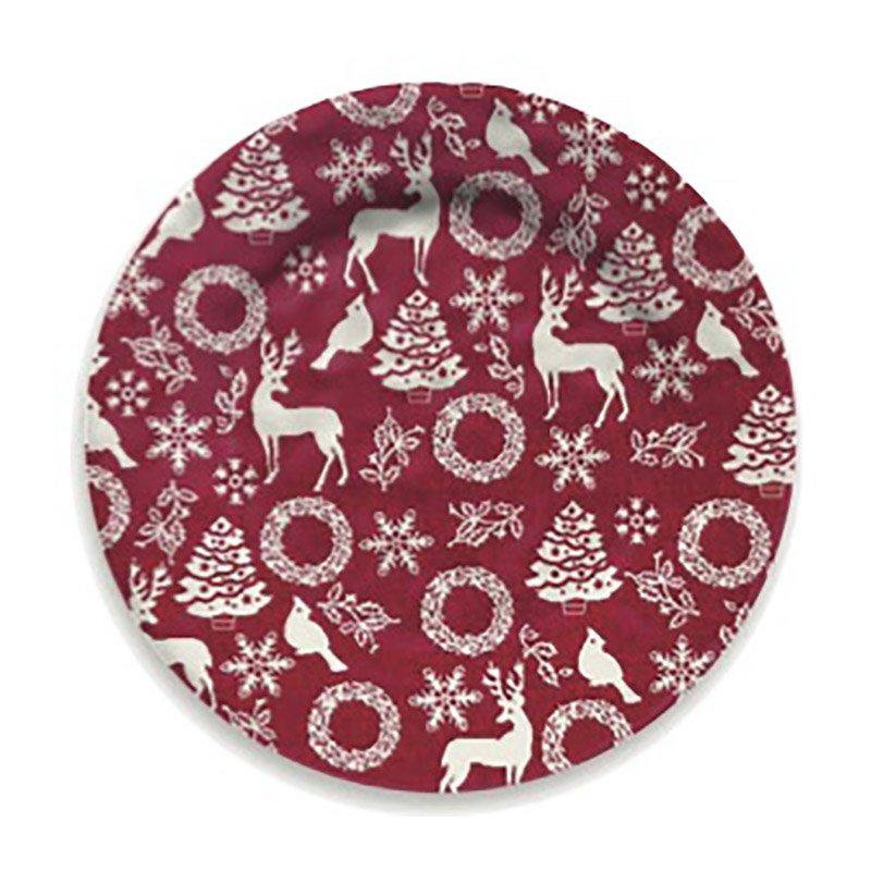 Piatto Dessert Rosso Natale - conf. 4 piattini