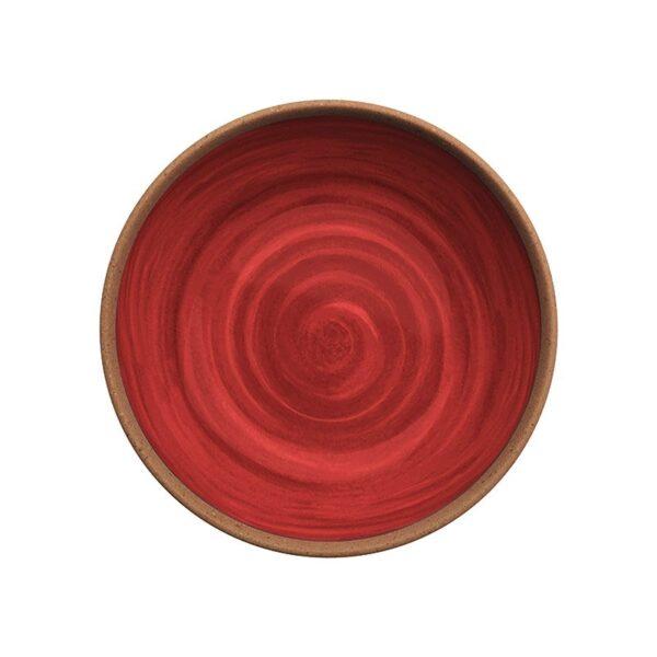 Coppia Piatto Fondo Natural Rosso