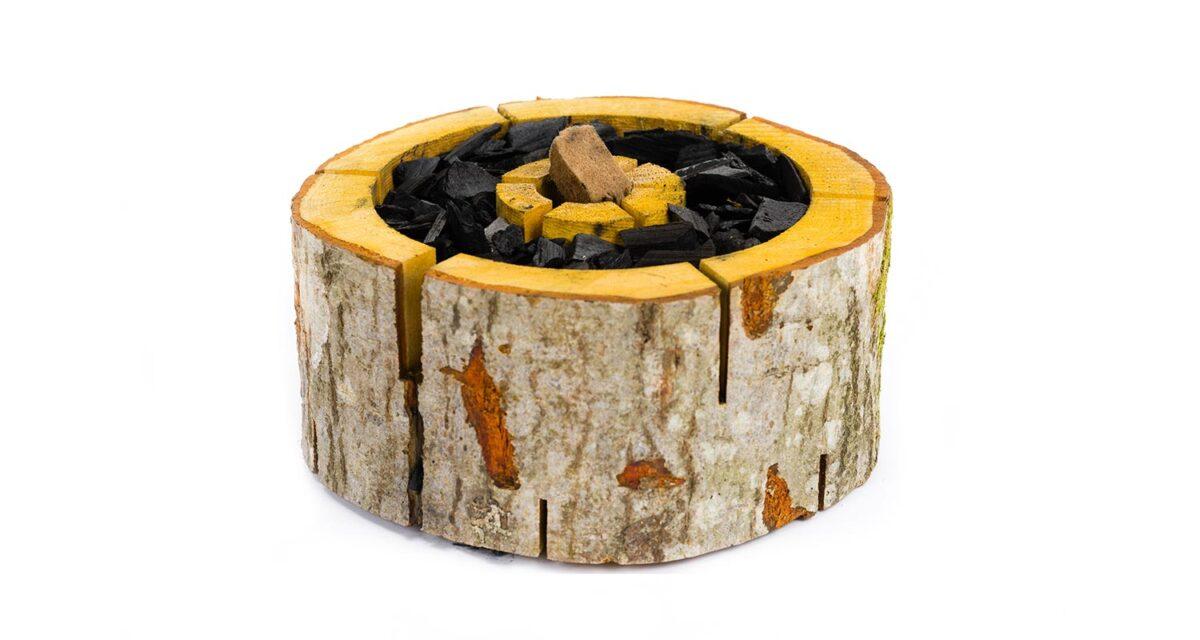 Wooden Barbecue burner - XL