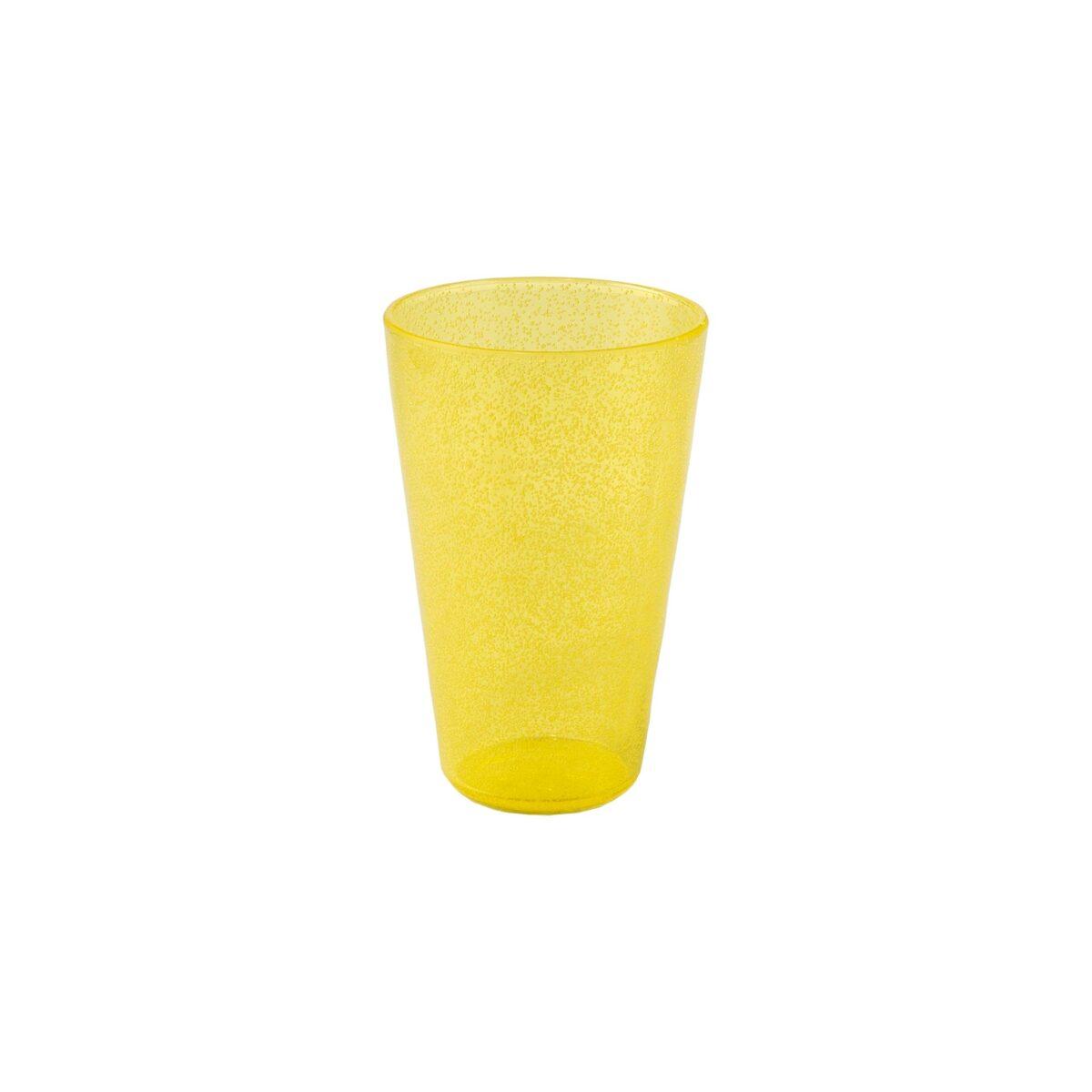 Drink Glass - Yellow Transparent