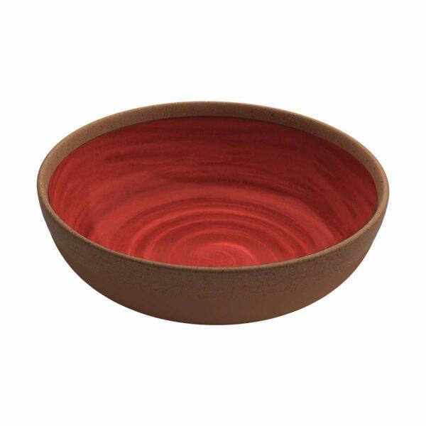 Piatto Fondo conf. 2 pz - Rosso - Natural