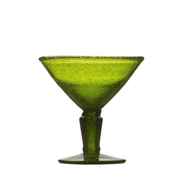 001019 - MARTINI GLASS - OLIVE