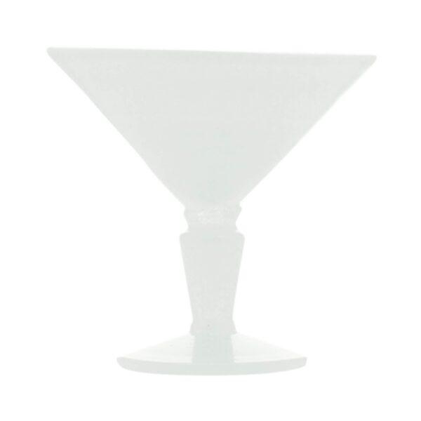 001024 - MARTINI GLASS - WHITE SOLID