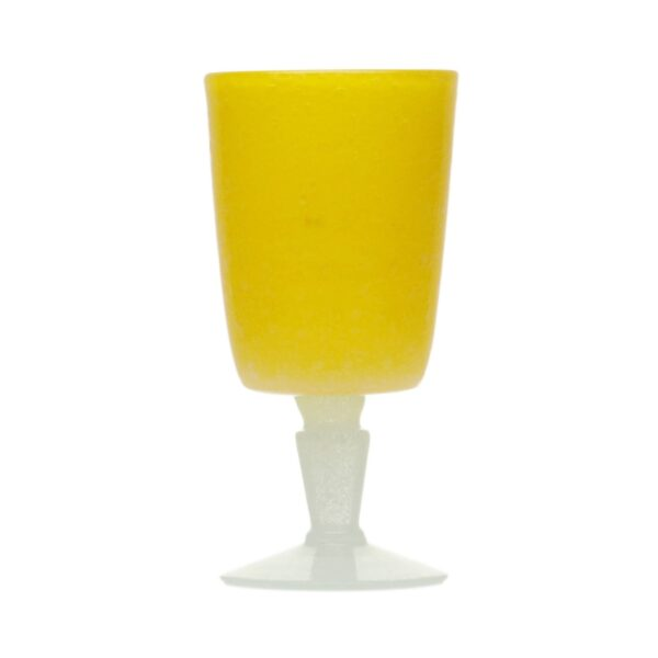 000202 - GOBLET - YELLOW SOLID