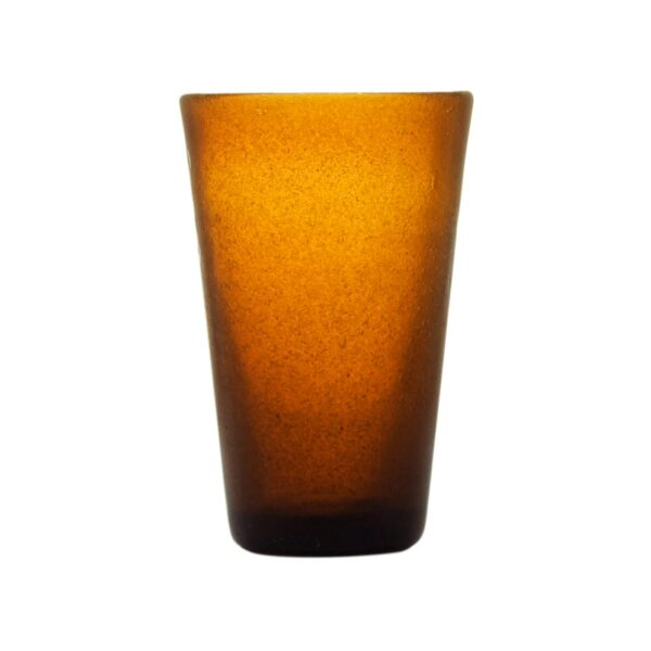 000829 - DRINK GLASS - AMBER