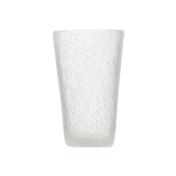 000823 - DRINK GLASS - WHITE TRANSP.