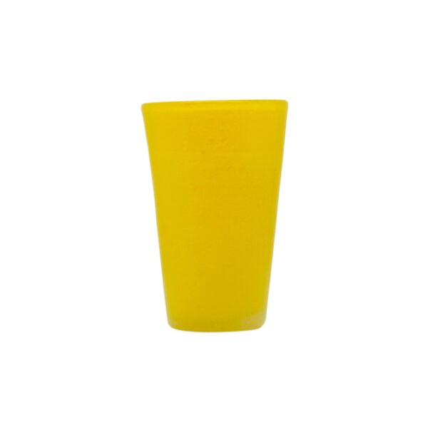 000802 - DRINK GLASS - YELLOW SOLID