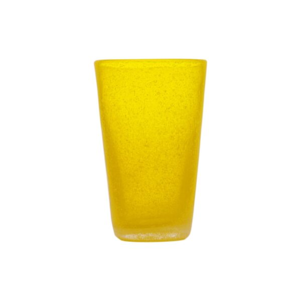 000801 - DRINK GLASS - YELLOW TRANSP.