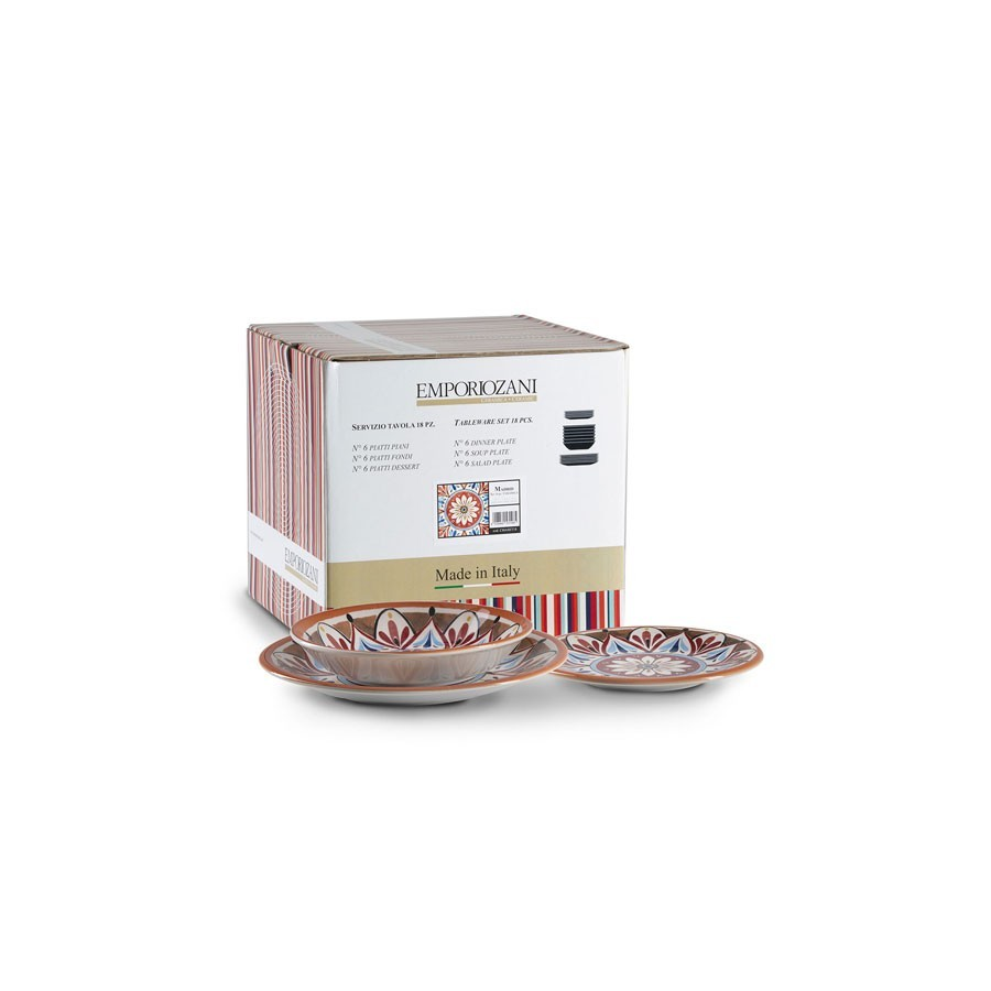Servizio piatti 18 pezzi in ceramica - Madrid