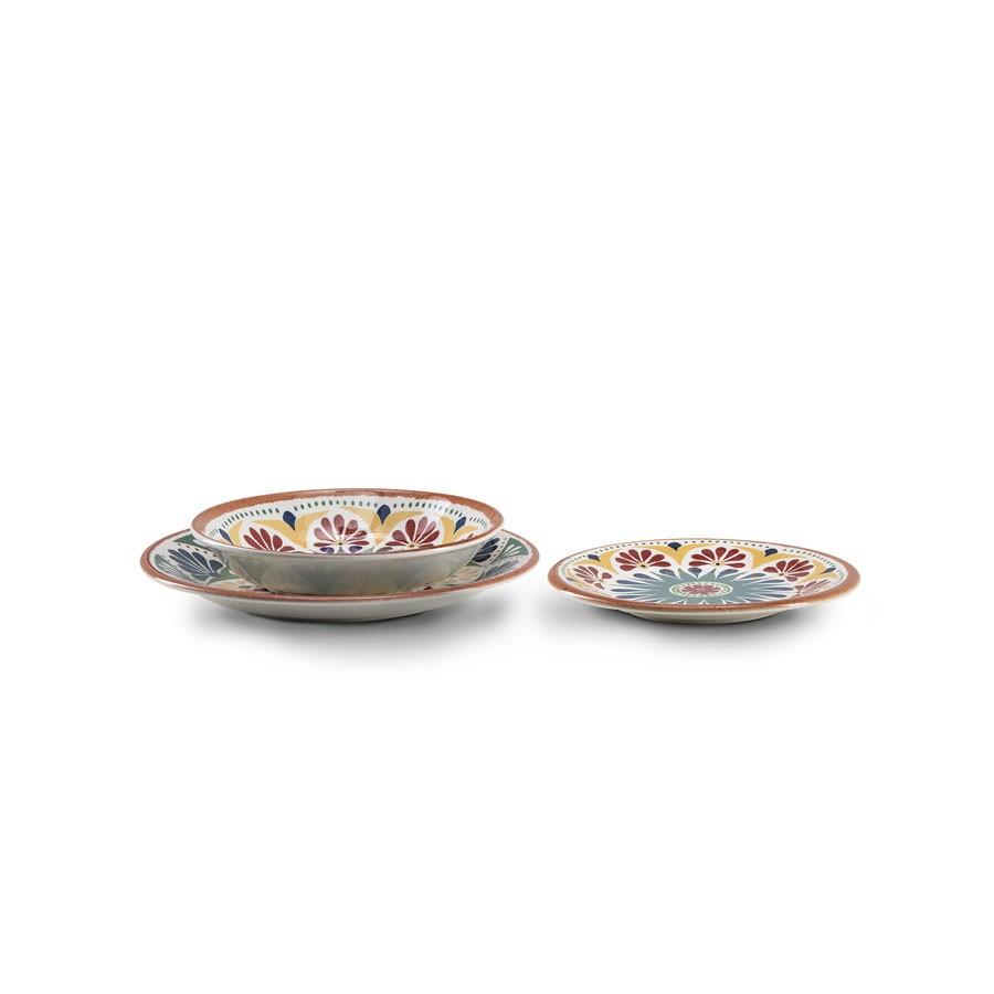 Servizio piatti 18 pezzi in ceramica - Porto