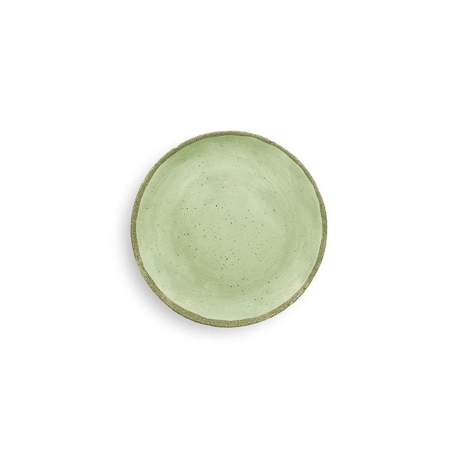 Piatto Dessert conf. 4 pezzi - Verde  - Terrae