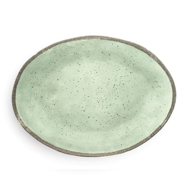 Vassoio Ovale - Verde  - Terrae