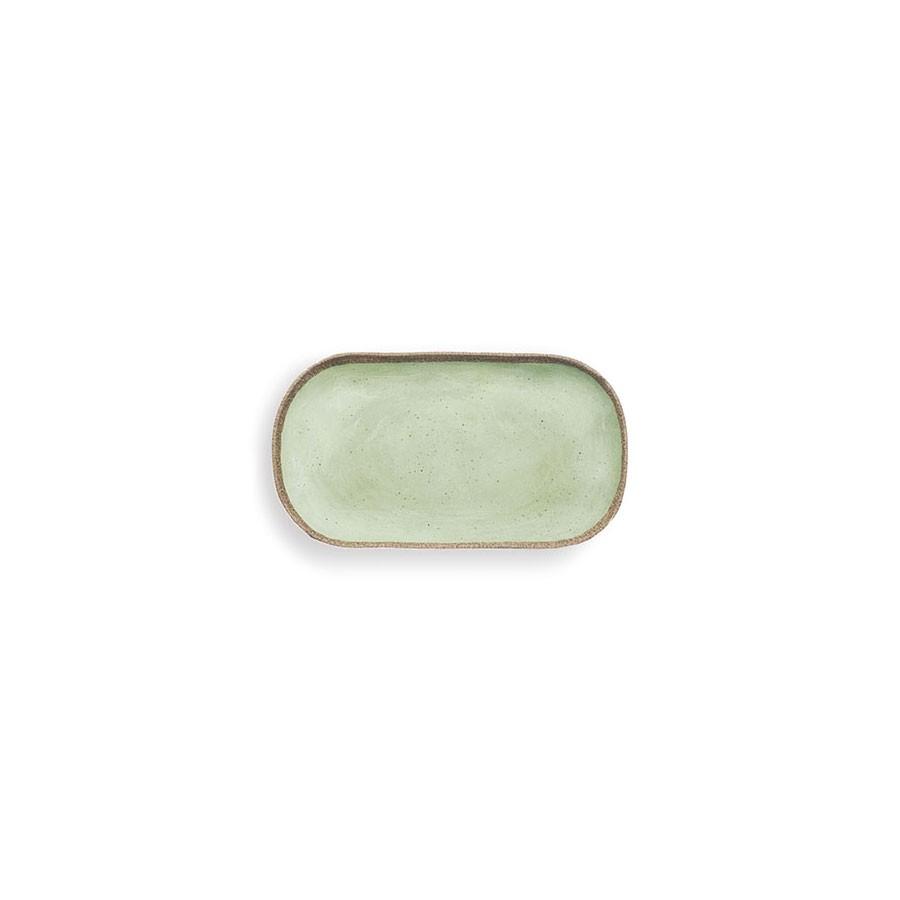 Vassoietto Rettangolare Piccolo 2 px. - Verde  - Terrae